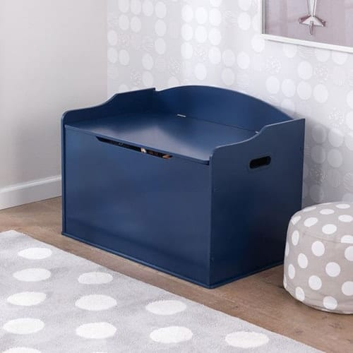 Wooden Toy Box Blue