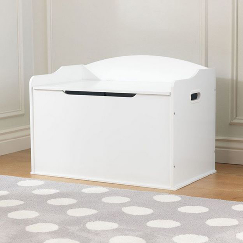 Wooden Toy Box White