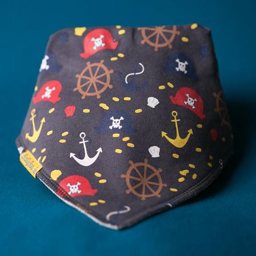Ahoy Pirates Organic Cotton Bib