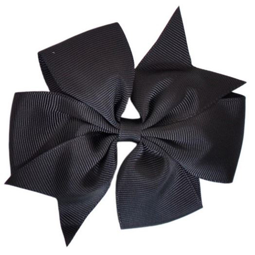 Black Pinwheel Bow Medium