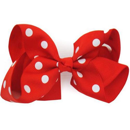 Boutique Red Polka Dot Bow - Medium