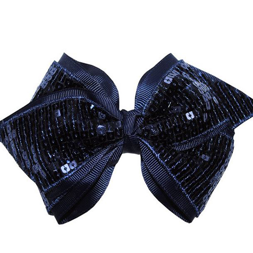 Cheer Bow Navy - Medium