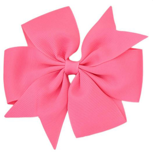Hot Pink Pinwheel Bow Medium