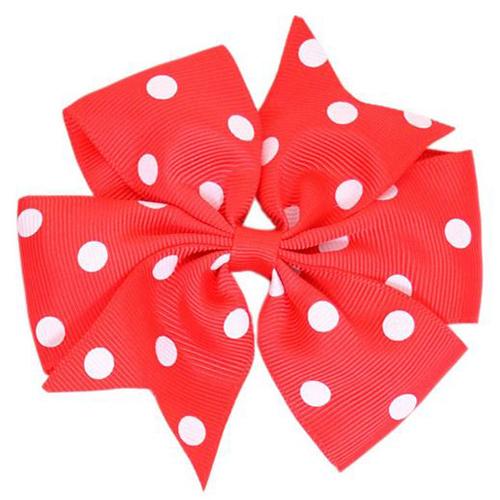 Red Polka Dot Pinwheel Bow Medium