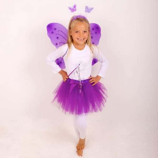 Purple princess Tutu And Wing Set - 3-6 years