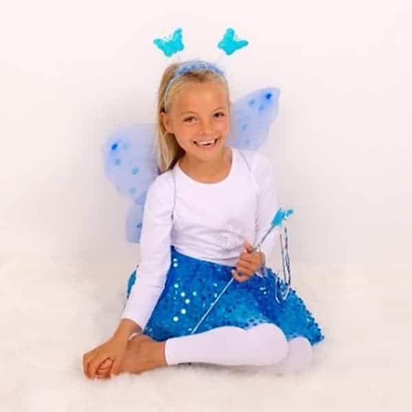 Turquoise Sparkle Tutu And Wing Set - 3-6 years