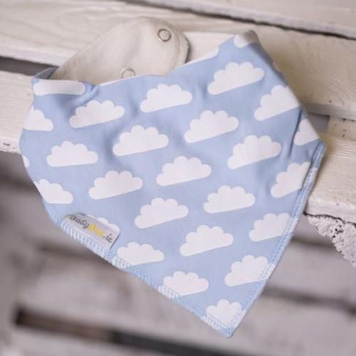Blue Clouds in the Sky Bandana Bib
