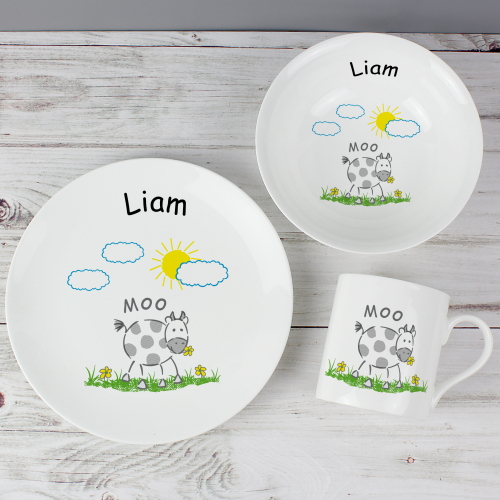 Personalised Moo Breakfast Set