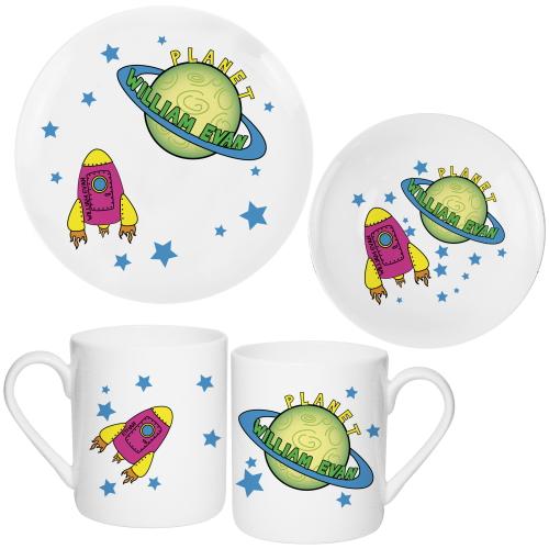 Personalised Space Breakfast Set