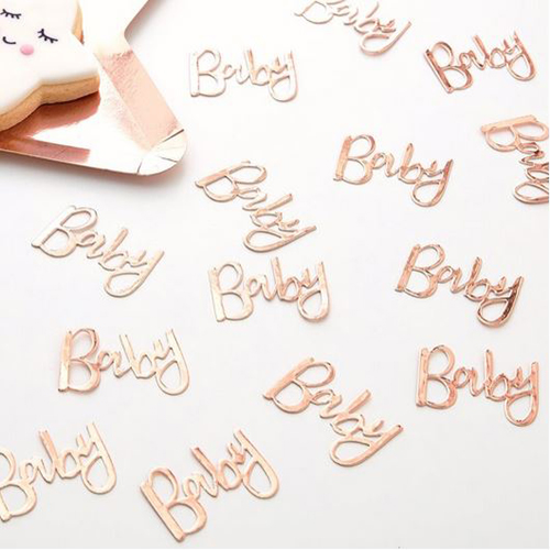 Rose Gold Baby Table Confetti - Twinkle Twinkle