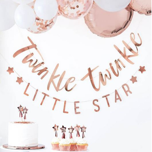Rose Gold Twinkle Twinkle Bunting - Twinkle Twinkle