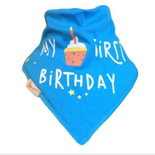 Sky Blue My First Birthday Bandana Bib