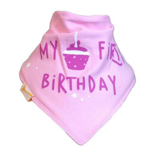 Light Pink My First Birthday Bandana Bib