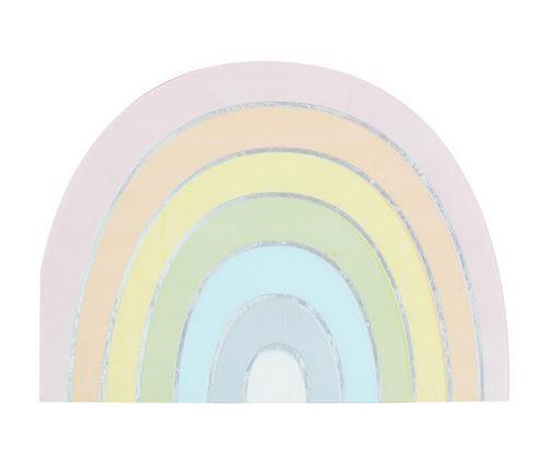 Pastel & Iridescent Rainbow Paper Napkins - Pastel Party