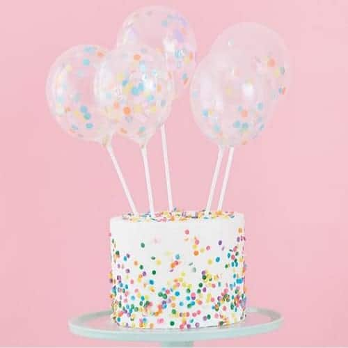 Mini Cake Topper Confetti Balloons Kit - Pastel Party