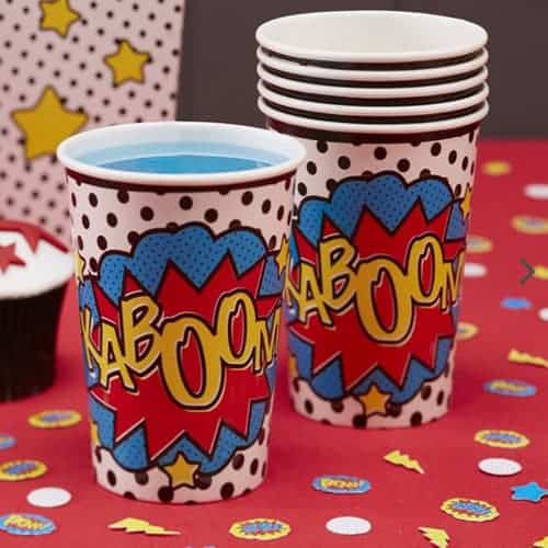 Paper Cup - Comic Superhero