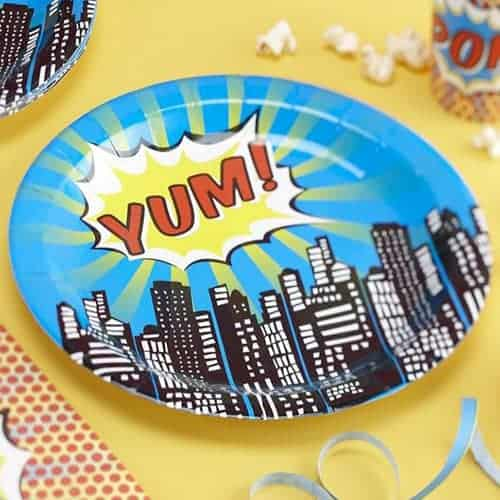 Paper Plates - Pop Art Superhero Party