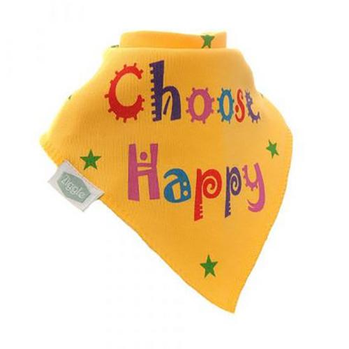 Choose Happy Bandana Bib