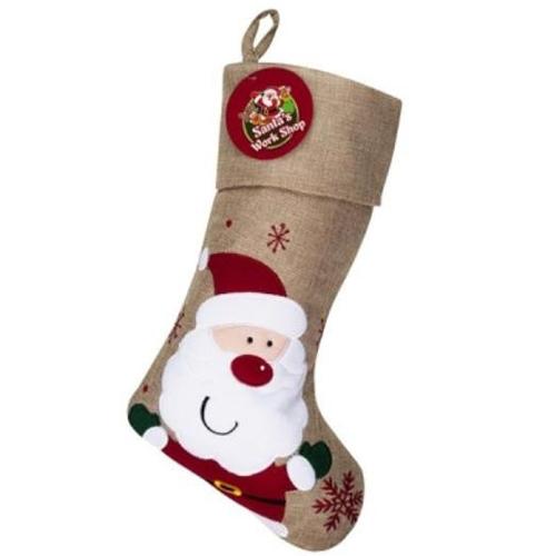 Personalised Santa Hessian Christmas Stocking