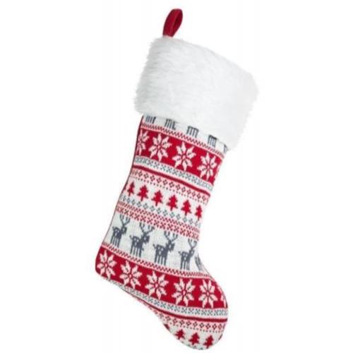 Personalised Plush Classic Nordic Christmas Stocking