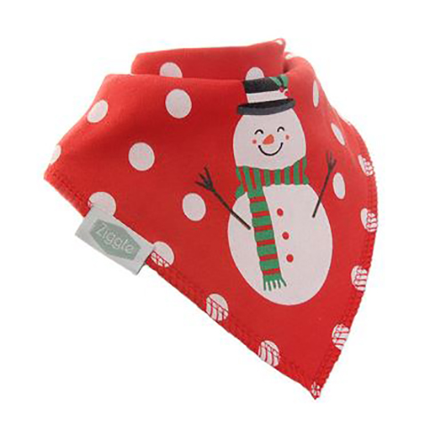 Christmas Red Snowman Christmas Bib
