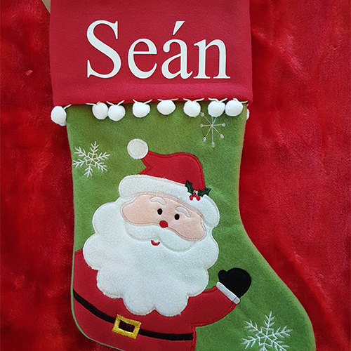 Personalised Plush Santa Christmas Stocking