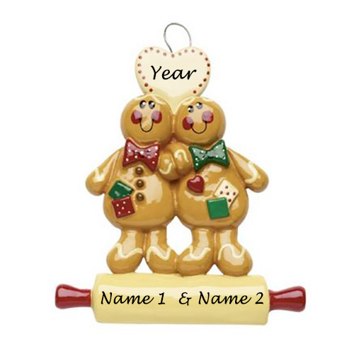 Personalised Gingerbread Couple Ornament