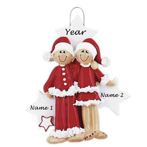 Personalised PJ Lovers Christmas Ornament