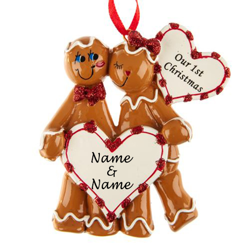 Personalised Gingerbread Love Ornament