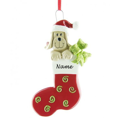 Personalised Dog stocking Christmas Ornament