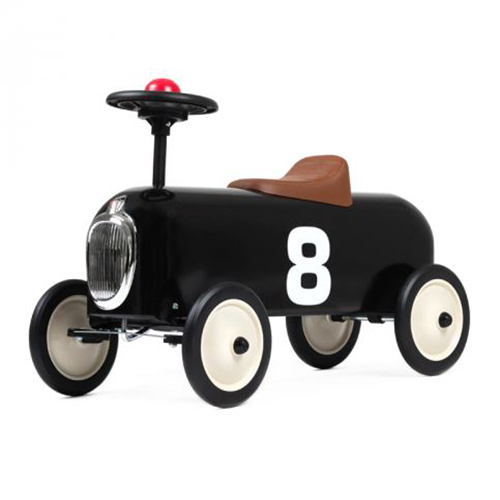 Racer Black Vintage Ride On