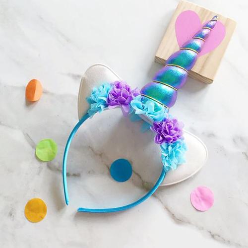 Unicorn Headband Turquoise