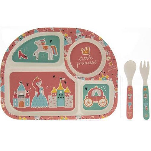 Bamboo Eating Set - Princess