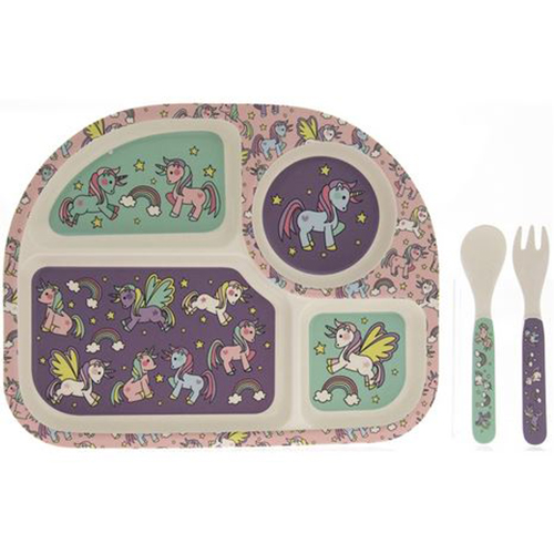 Bamboo Eating Set - Unicorn
