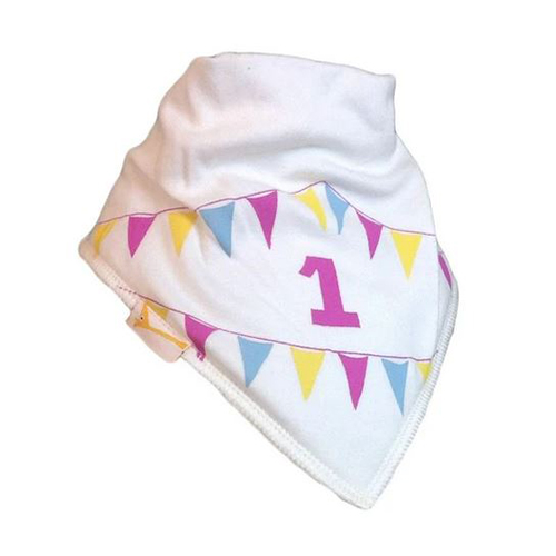 Cream Number 1 Baby Bib