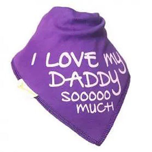 I Love My Daddy Baby Bib