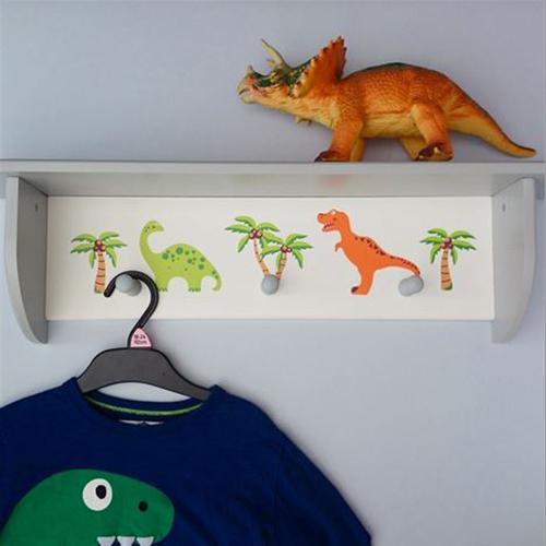 Wooden Dinosaur Wall Shelf