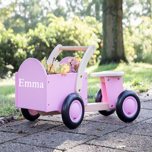 Personalised Carrier Ride On Pink