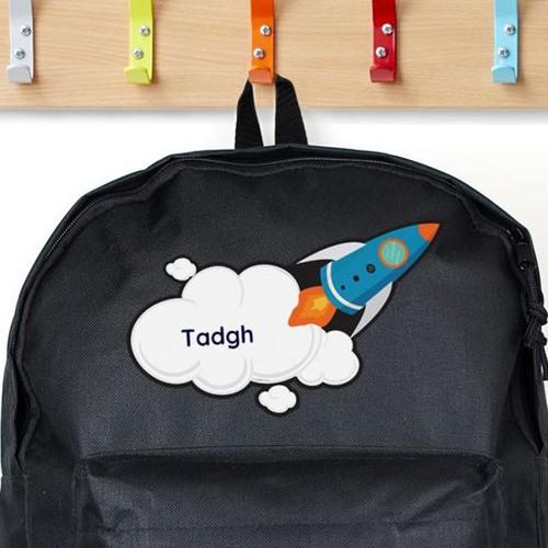 Personalised Backpack Black Rocket
