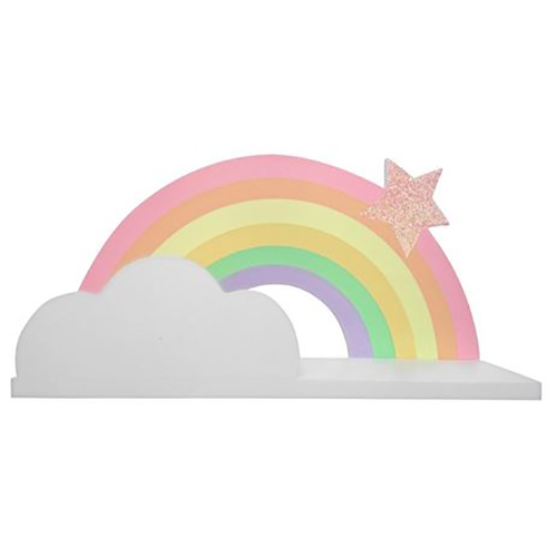 Rainbow Wooden Shelf