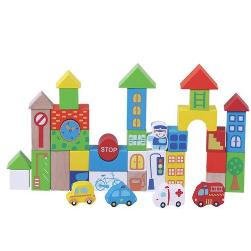 40pcs Traffic Building Blocks