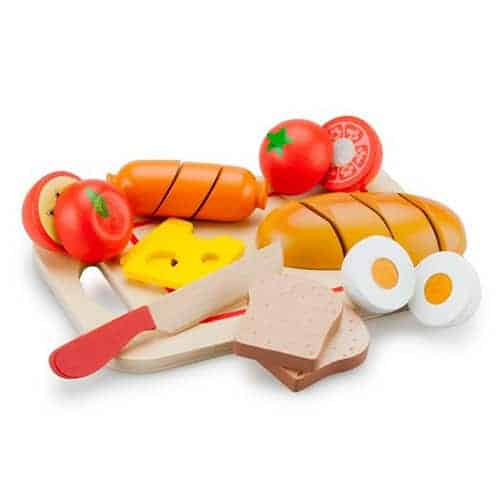Wooden Cutting Meal Set - Breakfast