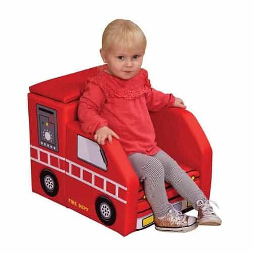 Fire Engine Sofa with Storage