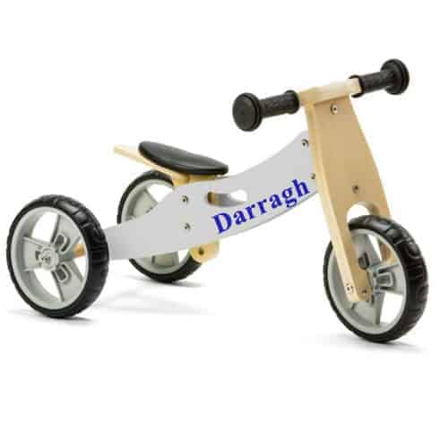 Personalised Mini Balance Bike 2 in 1 Grey