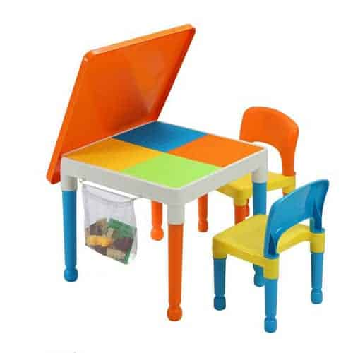 Building Block Table with 2 Chairs