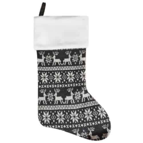Personalised Plush Grey Nordic Christmas Stocking