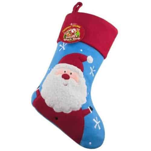 Personalised Plush Blue Snowman Christmas Stocking NEW