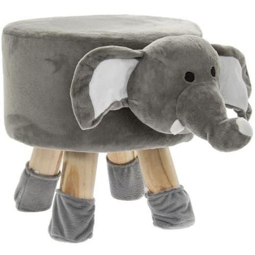Wooden Elephant Stool 45cm