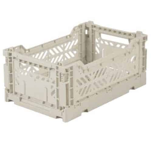 Aykasa Folding Crate Mini Light Grey