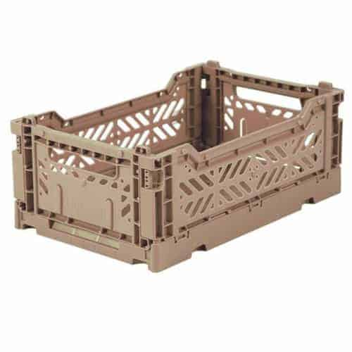 Aykasa Folding Crate Mini Warm Taupe